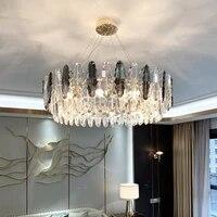 nordic luxury led pendant light modern crystal pendant hanging lamps bedroom living room staircase hotel lights indoor lighting