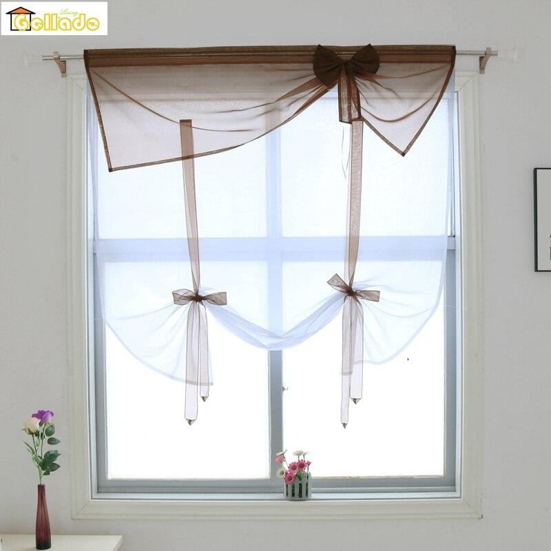 1 шт. тюлевые занавески для окна с бантом Занавески   