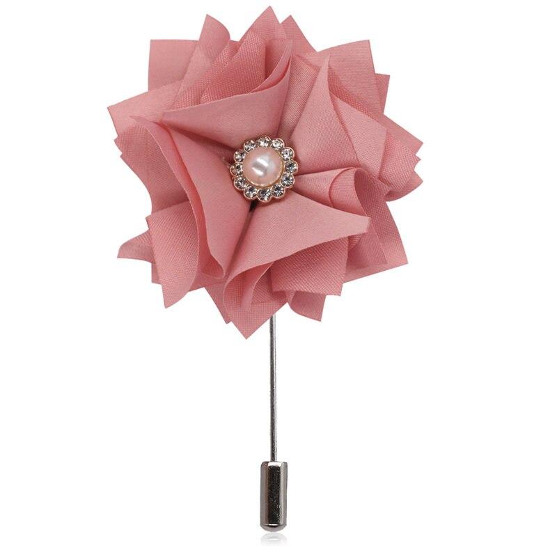 WIFELAI-A cristal perla novio novia ramillete de boda y ojales graduación ceremonia flor hombres broche de solapa de traje broche XH2019