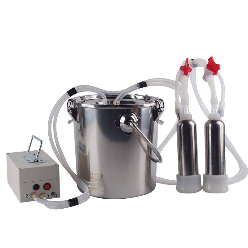 Cow Breast Vacuum Pulse Milking Machine Stainless Steel Head Capacity For Sheep