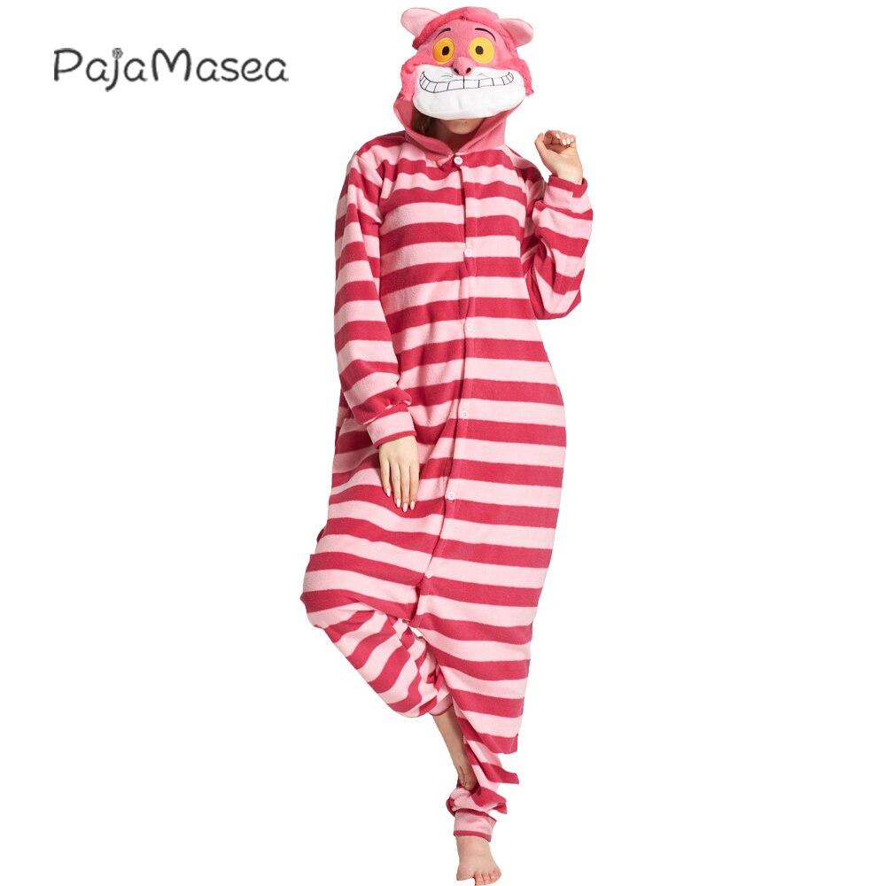 XXL kostium wysokość 200CM Cheshire Cat piżama kostium Onesie dla dorosłych kobiet Kigurumi zwierząt paski kombinezony na impreza z okazji Halloween