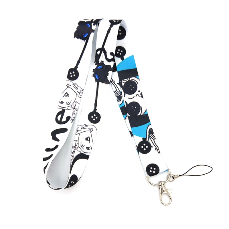 Coraline Pattern Neck Strap Lanyard for Keys Phone Straps ID Name Card Badges Holder Keychain Hang Rope Webbing Lanyards