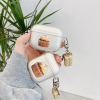 earphone case for airpods ins chocolate cake soft glitter earphone cover for airpods 2 3 airpods pro protect shell with keychain