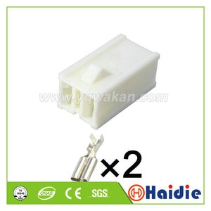 Free shipping 5sets 2pin auto female crimp connector wiring unsealed connector