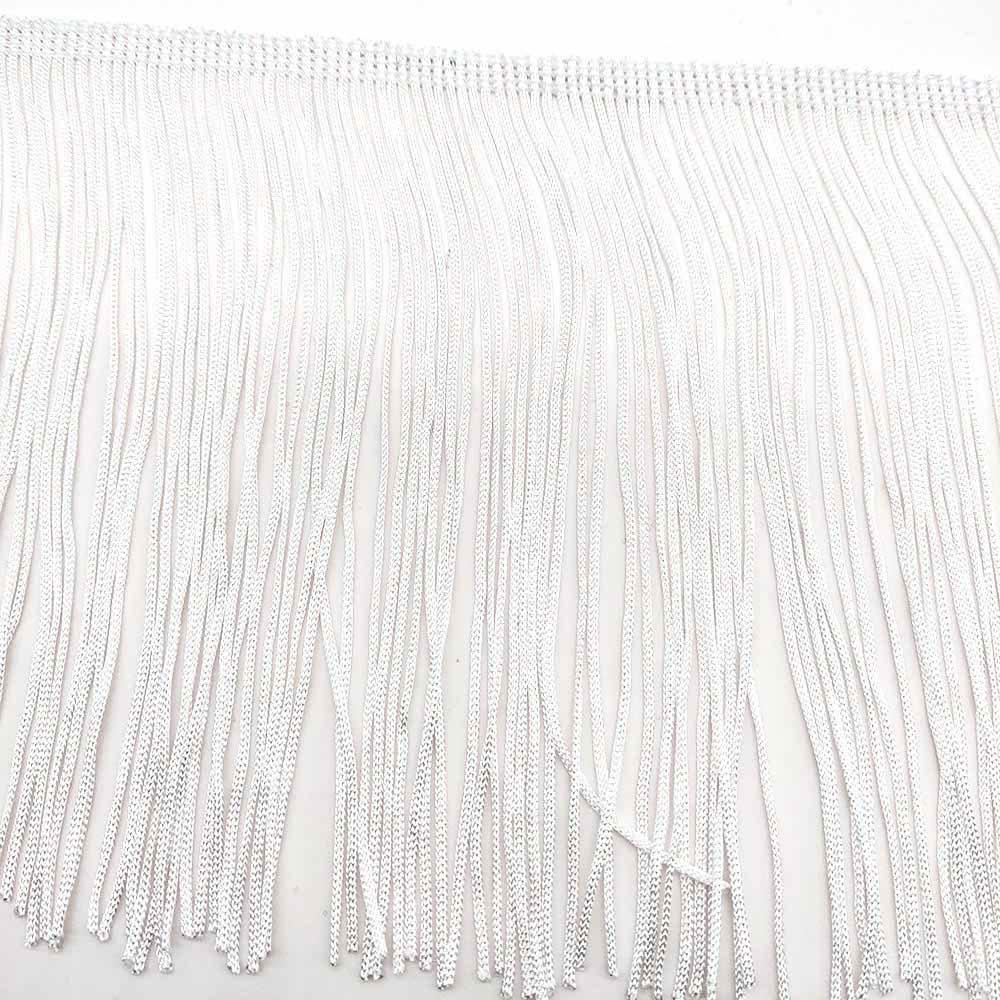 10 ярдов Белый 15 см ширина бахрома кружево кисточка полиэстер кружево отделка Лента пришить латинское платье сценическая одежда занавес DIY аксессуары