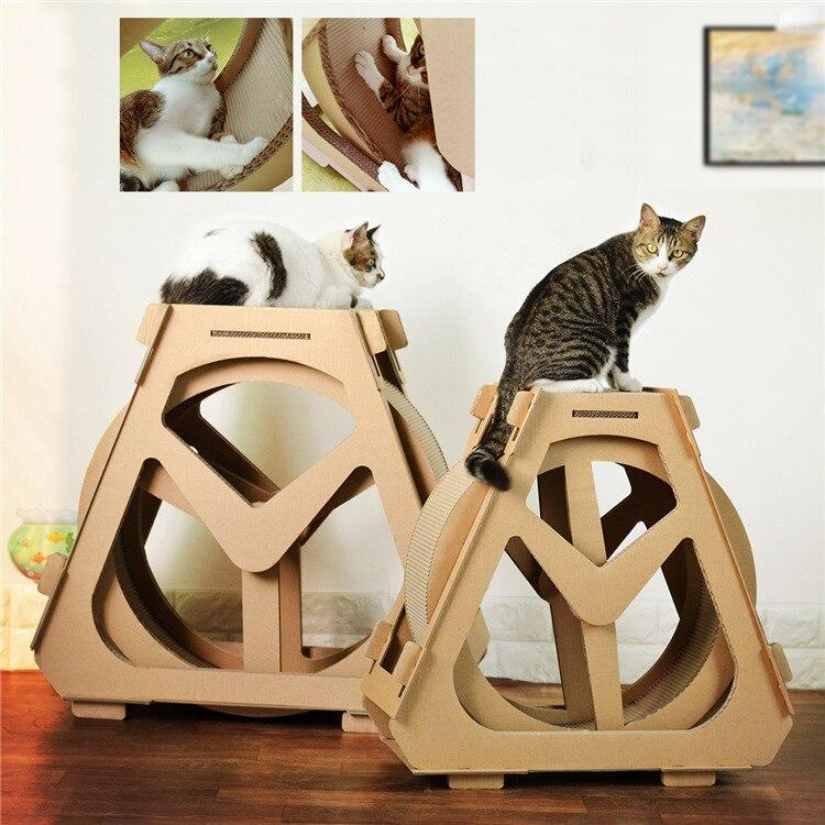 Gato cinta de deporte Gato suministros corrugado rascador para gatos rueda de gato corriendo de dispositivo para bajar de peso