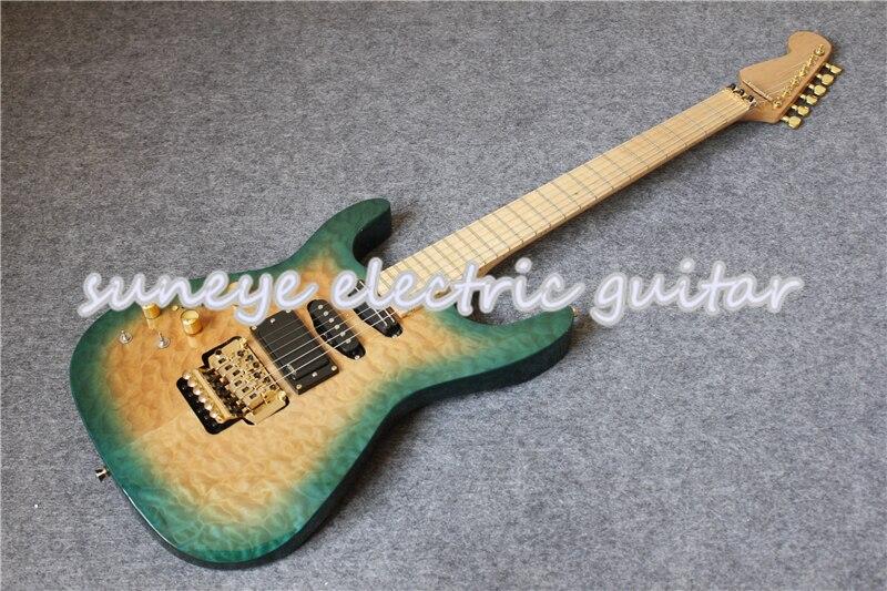 Tienda a medida China OEM gatos zurdos guitarra eléctrica de oro Hardware...