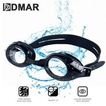 DMAR Myopia Swimming Goggles Anti-fog UV Waterproof Swimming Goggles Men Women Custom Myopia Degree Lens Sports Eyewear