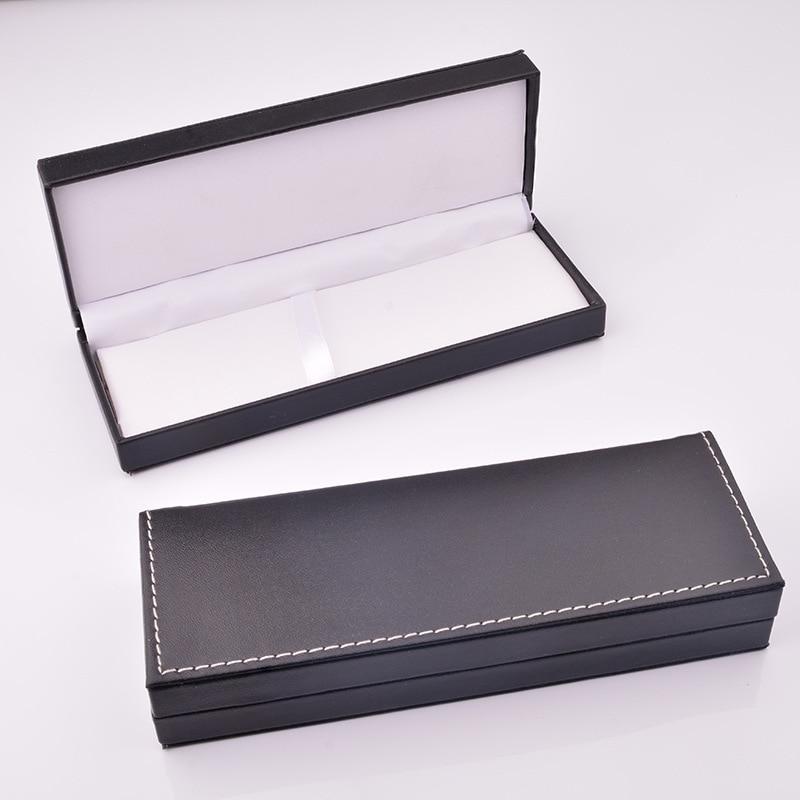 Пенал из искусственной кожи, Подарочная коробка, упаковка, подарочная ручка в деловом стиле, чехол-футляр с индивидуальным логотипом [сдела...