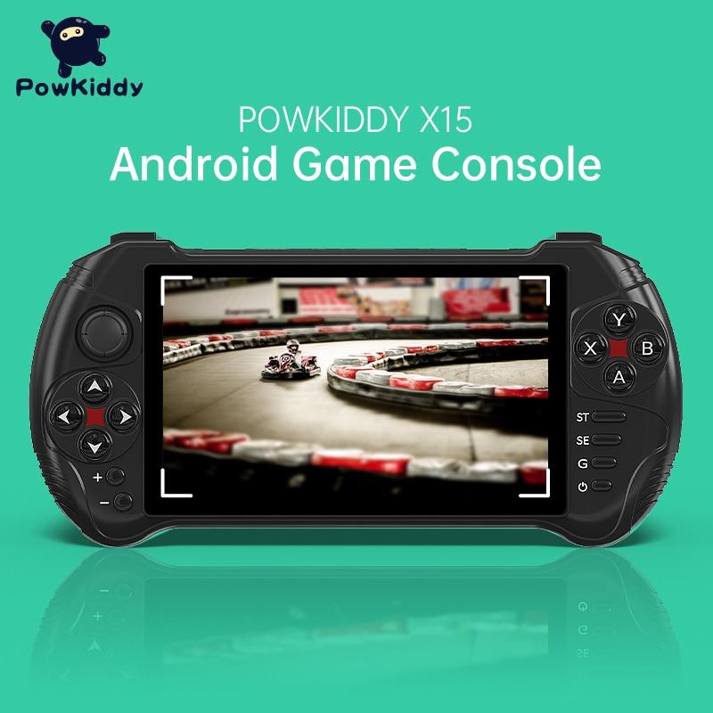 Powkiddy X15 Andriod Handheld Game Console 5.5 INCH 1280*720 Screen MTK8163 Quad Core 2G RAM 32G ROM Video Handheld Game Player
