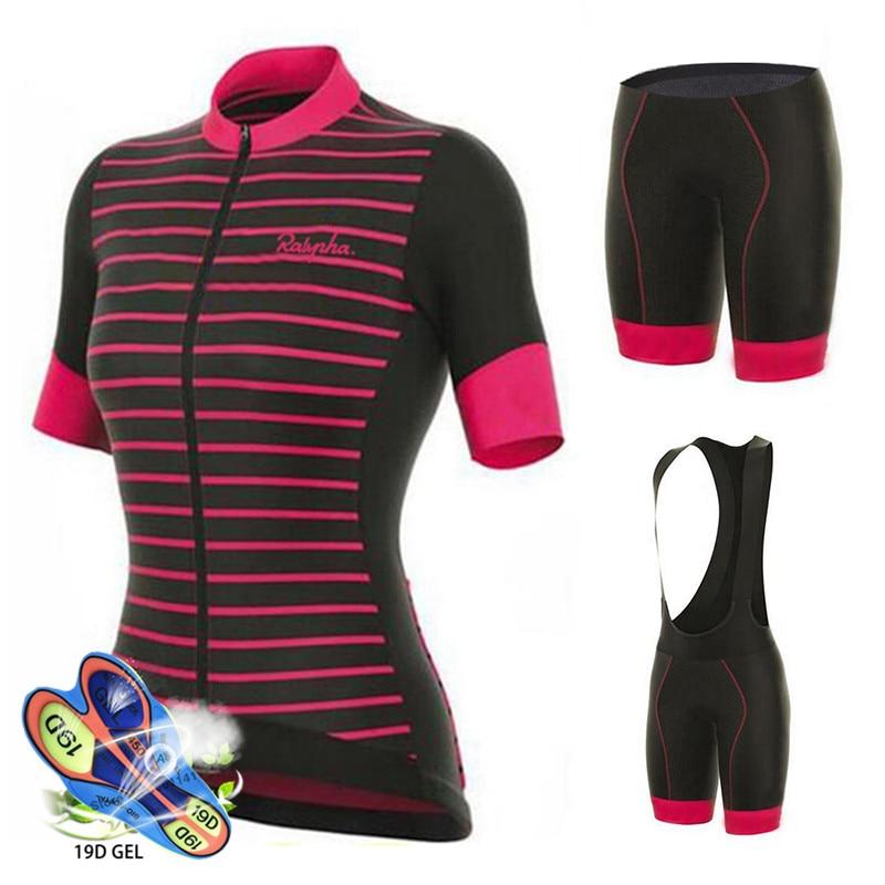 Ropa de Ciclismo de equipo profesional para mujer, conjunto de pantalones cortos...