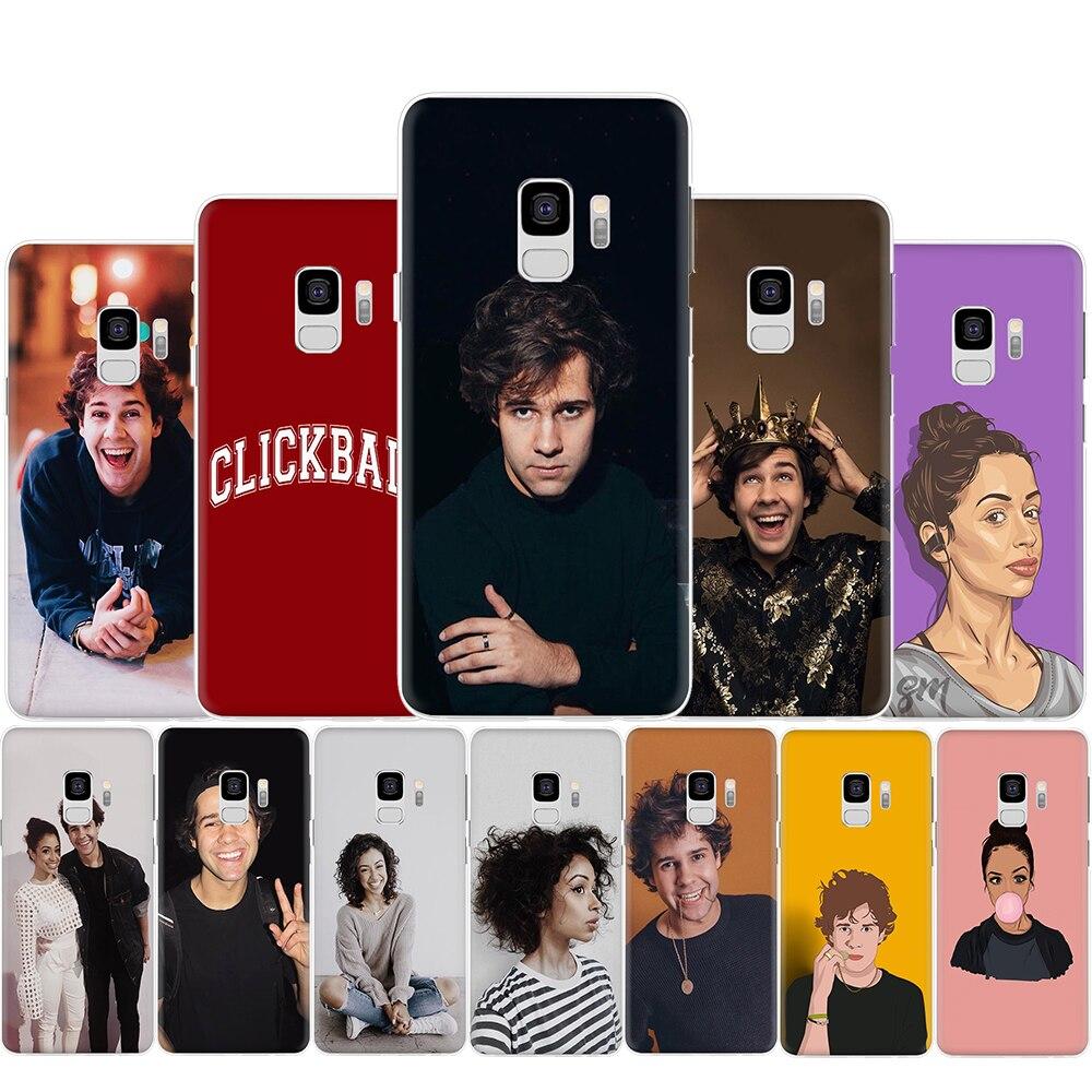 Liza Koshy David Dobrik de plástico duro de la caja del teléfono para Samsung S6 S7 borde S8 S9 S10 más S10e Nota 8 9 10 M10 M20 M30 M40