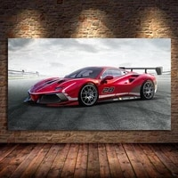 ferraris 488 challenge evo race racing car canvas painting poster prints wall art picture cuadros for living room decor unframed