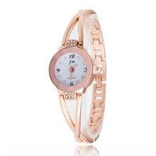 New Fashion Rhinestone Watches Women Luxury Brand Stainless Steel Bracelet watches Ladies Quartz Dre