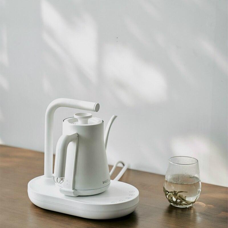 JRM0093-إبريق قهوة يدوي الدفع ، مجموعة إبريق شاي كهربائي منزلي ، غلاية أوتوماتيكية ، تحكم في درجة الحرارة ، وعاء ناعم