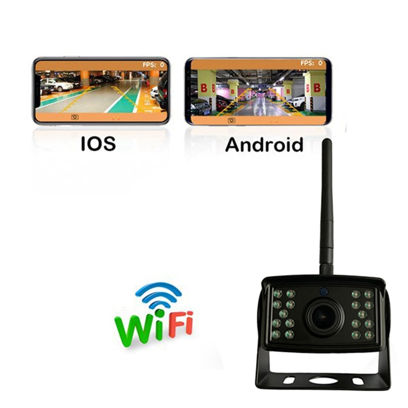 WIFI Reversing Camera Car HD 1080P Rear View System Waterproof Vehicle Cameras for iPhone and Android