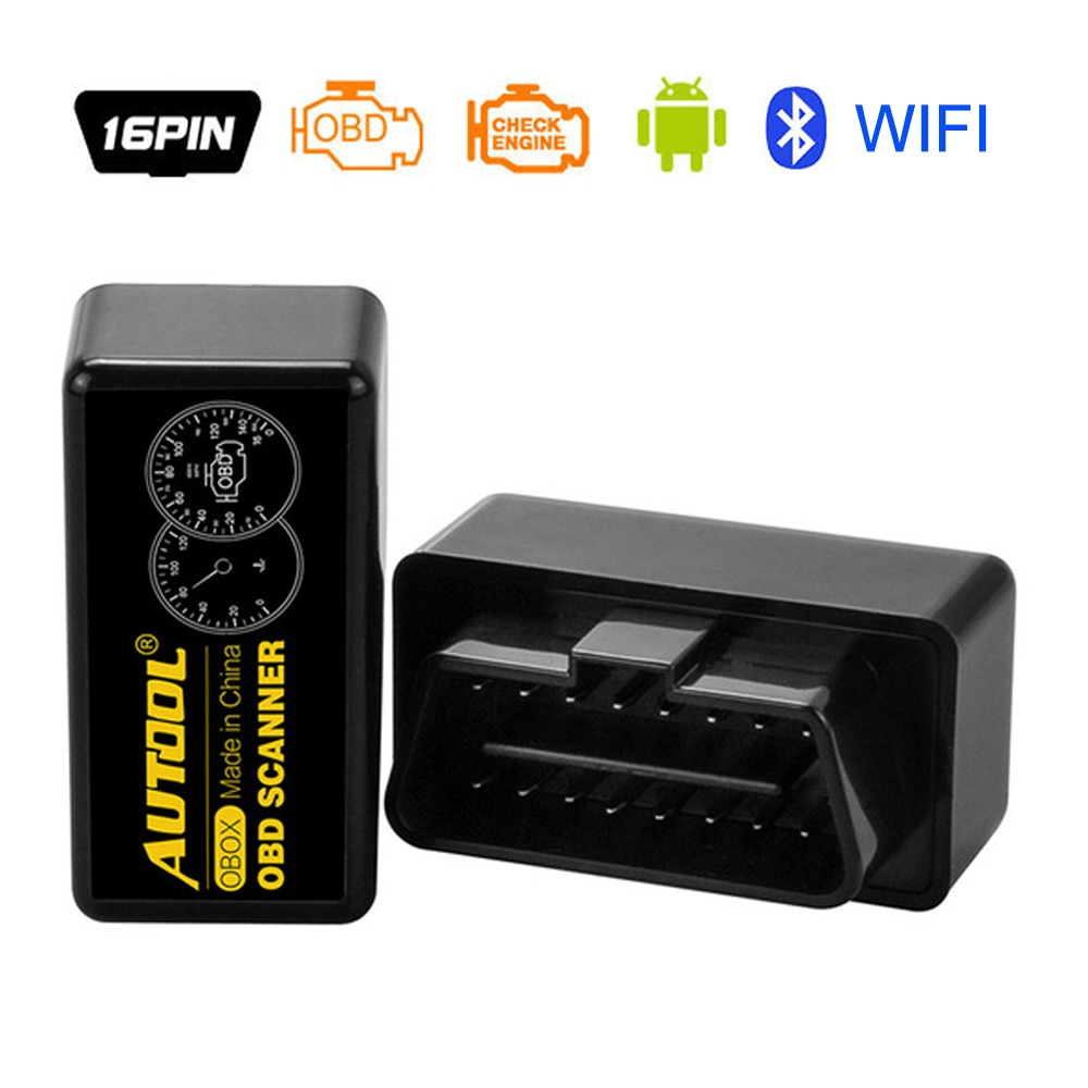 AUTOOL OBOX OBD2 ELM327 V1.5 WIFI Car Scanner ELM 327 OBD 2 II Auto Diagnostic Adapter Interface For Wifi IOS Card