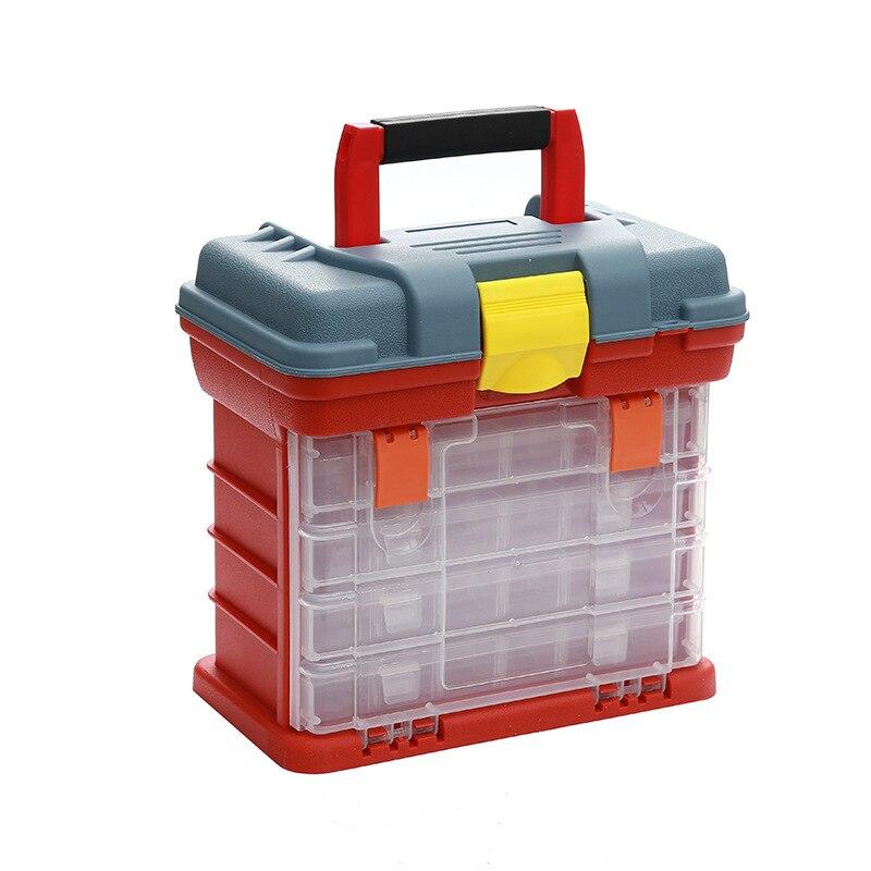 صندوق بلاستيك حقيبة أدوات ألومنيوم محمولة منظم شبكة متعدد الوظائف صندوق أدوات السلامة مقاوم للماء Caixa De Ferramentas أدوات تخزين EI50GH