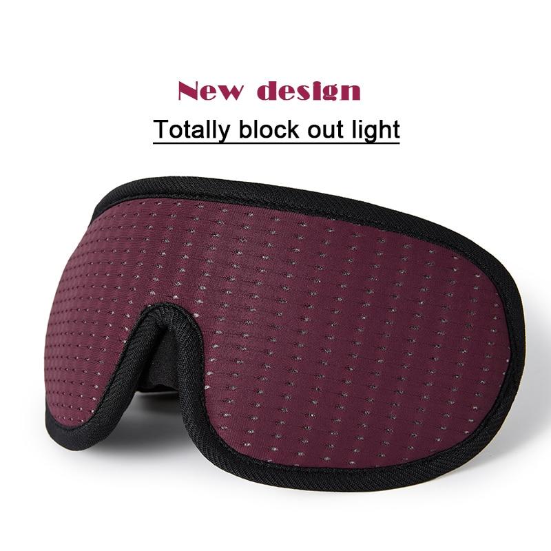 Mascarilla 3D para dormir, máscara suave acolchada para los ojos, cortina para vendar los ojos, ayuda para dormir
