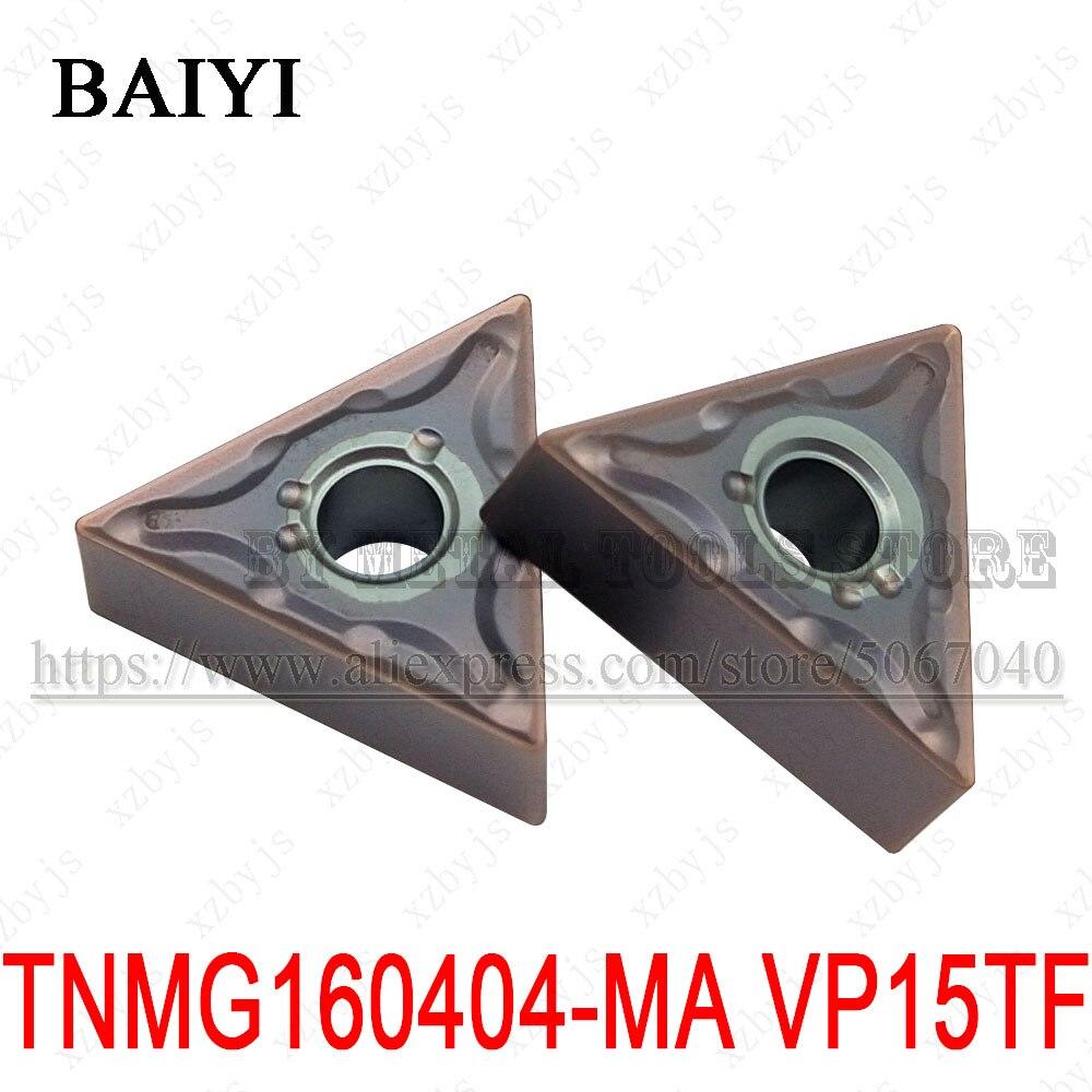 عالية الجودة TNMG160404-MA VP15TF TNMG160404 كربيد نك الخارجية تحول أداة TNMG 160404 قطع غيار من الفولاذ المقاوم للصدأ تحول إدراج
