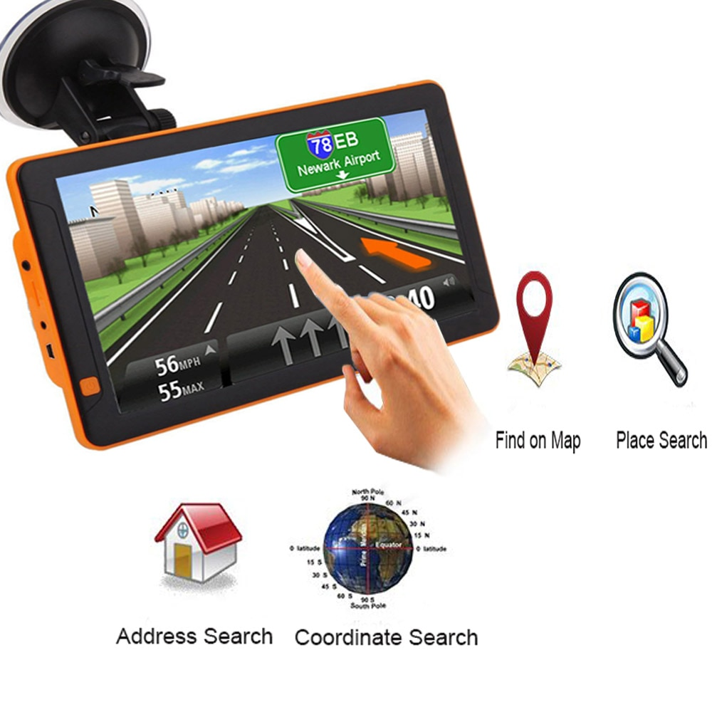 Car Navigator GPS 9 inch HD LCD capacitive screen 256MB Navitel satellite navigation truck GPS Navigator car 2019 latest Europe