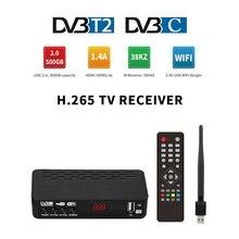 DVB T2 HEVC 265 Digital TV Receiver H265 FTA DVB-C TV Tuner Decoder H.264 DVB-T2 Full HD H.265 DVBT2 Set-top Box Youtube