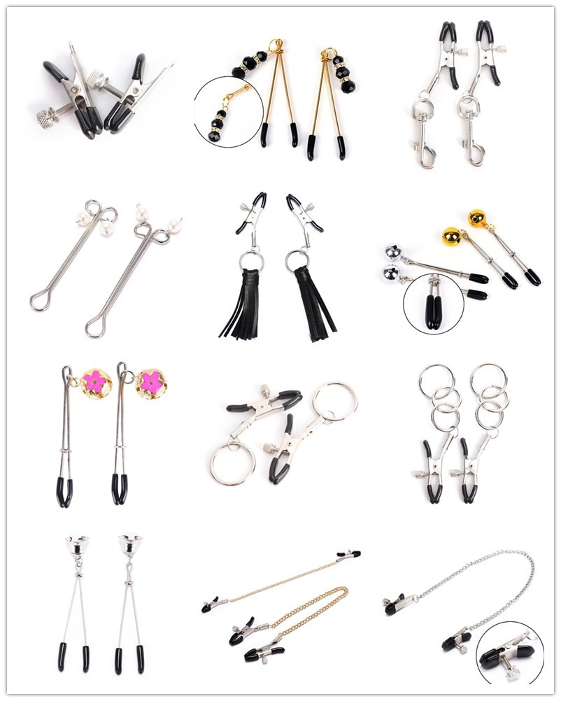 1Pairs/1PCS Breast Nipple Clamps Clips Adult Fetish Flirting Teasing Sex Game Nippel Clamp Couple Pinzas Pezones Bdsm Toys недорого