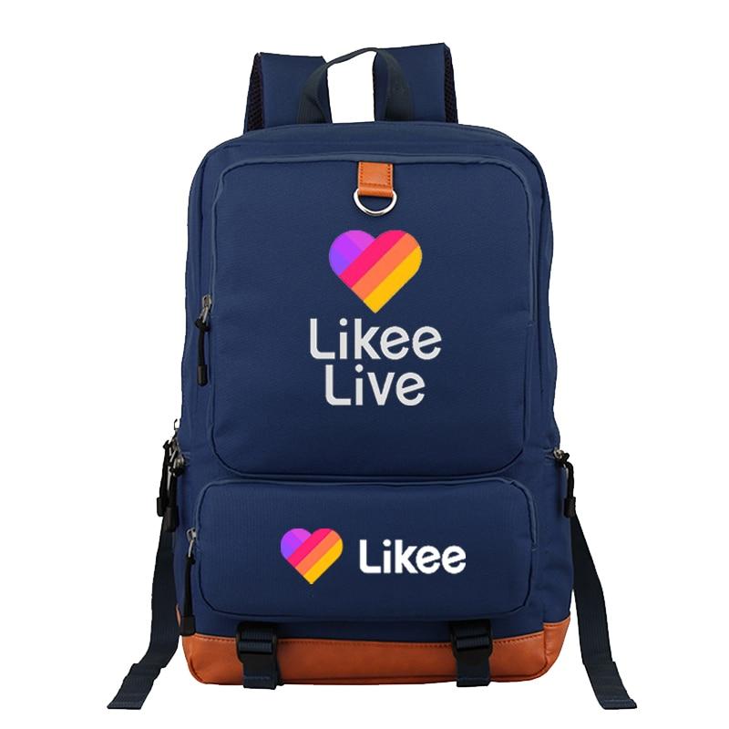 Mochila Popular LIKEE, mochila de viaje a la moda con nuevo diseño, mochila ligera para estudiantes, mochila para niños y niñas, mochila para la escuela Likee Live
