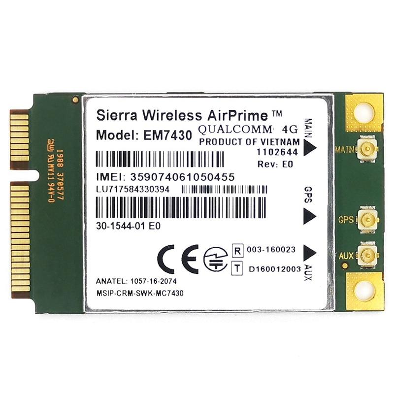 Mc7430 lte 4g módulo FDD-LTE TDD-LTE cat6 hspa + gnss wwan cartão usb 3.0 interface 4g cartão
