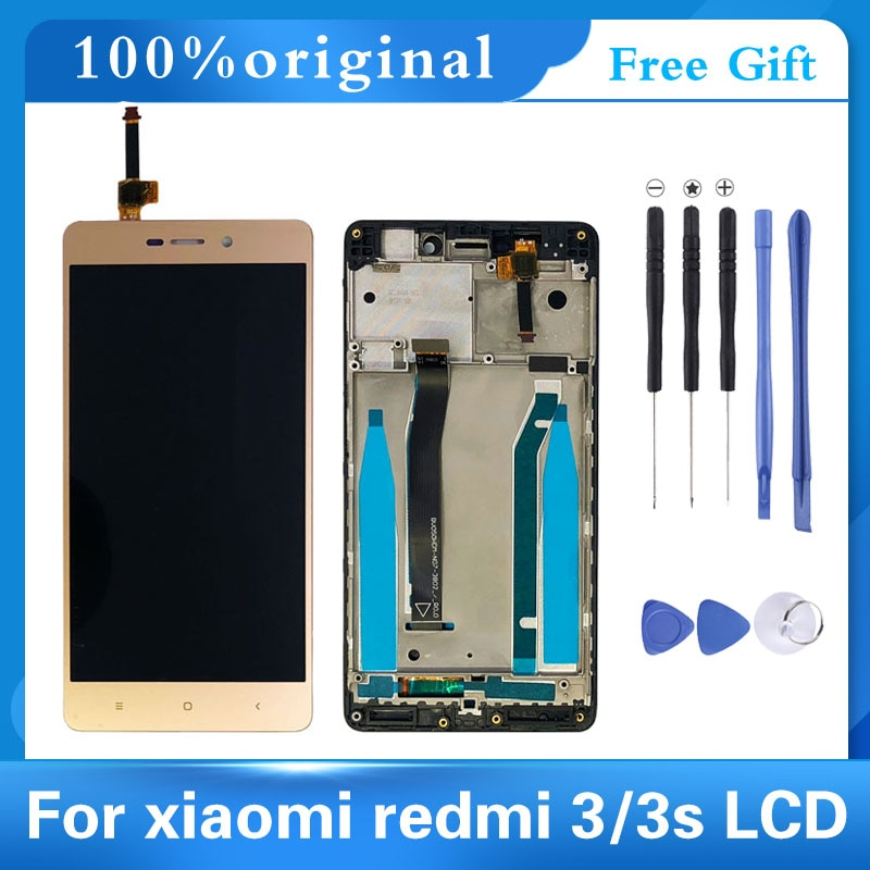 100% Original 5.0 Inch AAA Quality LCD For Xiaomi Redmi 3 Lcd Display Screen Replacement For Redmi 3 3S LCD Digiziter Aseembly original lcd frame for xiaomi redmi 5a lcd display screen replacement for redmi 5a screen digiziter assembly aaa quality