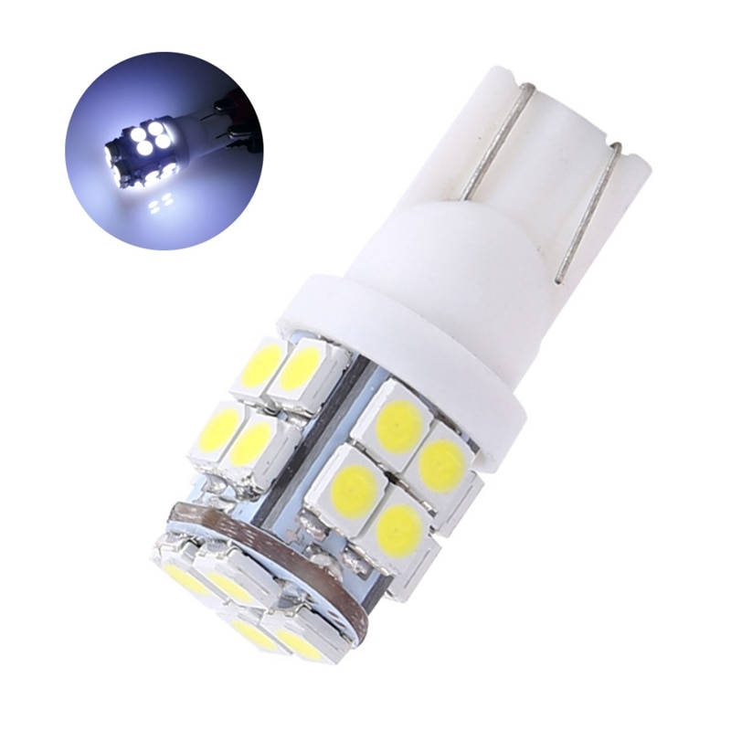 10PCS T10 20-SMD LED Car Lights Super Bright Indication Signal Lamp Bulb Clearence White Light Bulbs 194 168 2825 W5W For 10 Pcs