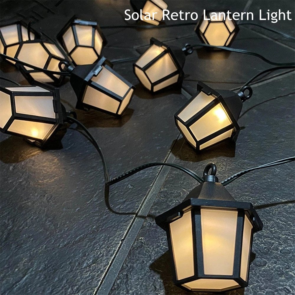 luzes solares led retro palacio lanterna jardim ao ar livre paisagem guirlanda lampada