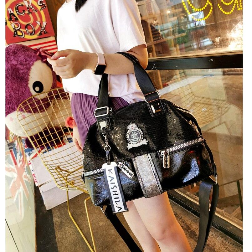 Ita الترتر جلد النساء حقيبة يد فاخرة ماركة 2021 برشام عالية الجودة حقيبة كتف السيدات حقيبة يد كبيرة Ita حمل حقيبة السفر الأسود