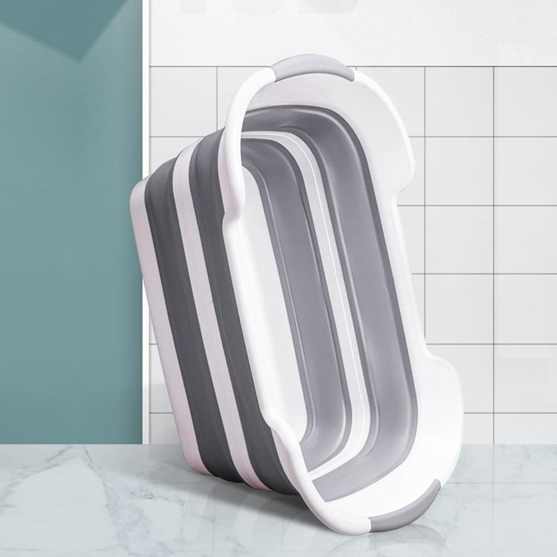 Silicone Foldable Baby Take a bath Bathtub Non-Slip Foot Bath Bucket Folding Portable Pet Dog Cat Bathtub Bathroom Laundry Baske enlarge