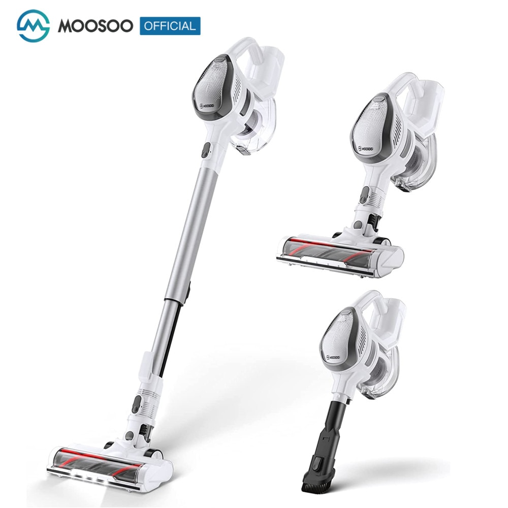 MOOSOO M8 Wireless Vacuum Cleaner 14Kpa 150W Powerful Brushless Motor 4-in-1 Vacuum Cleaner for Home Hard Floor Carpet Car Pet