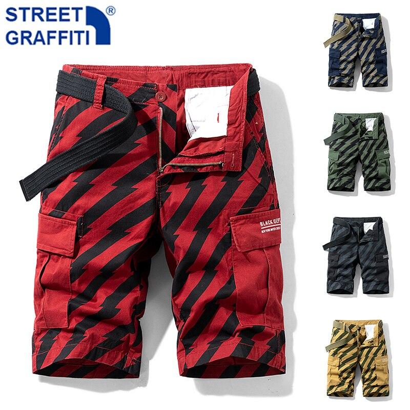2021 Men Summer New Tactical Cotton Cargo Shorts Men Streetwear Pockets Shorts Men Casual Fashion Loose Camouflage shorts 28-38