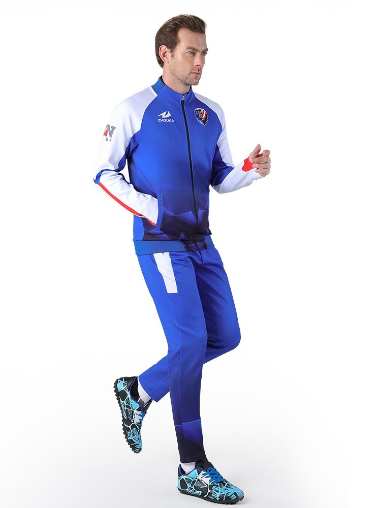 Sports Jacket Athletic custom team sportswear printed zip basketball tracksuit