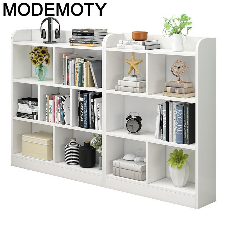 Decor Industrial Librero Decoracion Madera Bois Decoracao Meuble De Maison Boekenkast Rack Furniture Retro Book Shelf Case