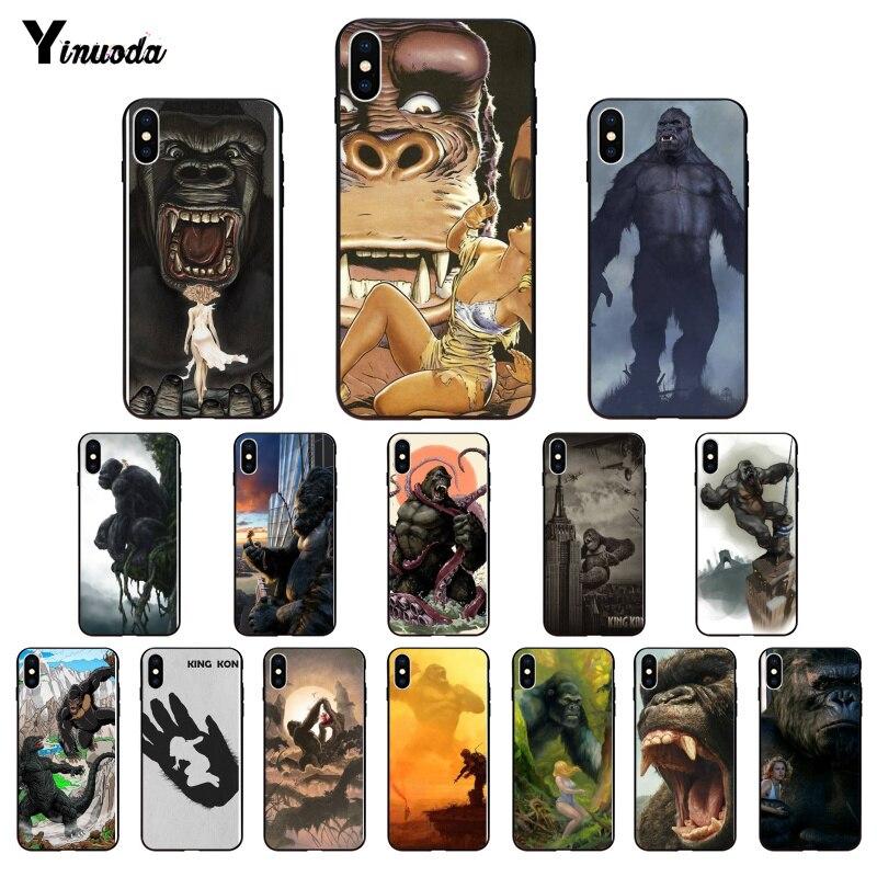 Yinuoda king kong filme de luxo design exclusivo telefone capa para iphone 6s 7 8 plus x xs max 5 5S se xr 11 pro max capa