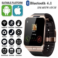 Мужские Смарт-часы DZ09 Bluetooth с сенсорным экраном, большой аккумулятор Поддержка 2G GSM SIM TF-карта камера для телефона Android PK U8 Q18 A1 Q9