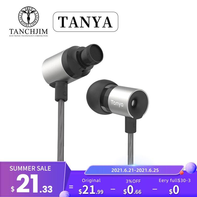 TANCHJIM TANYA 7MM Dynamic Earphone 3.5mm Line Plug HiFi Earbuds with Microphone