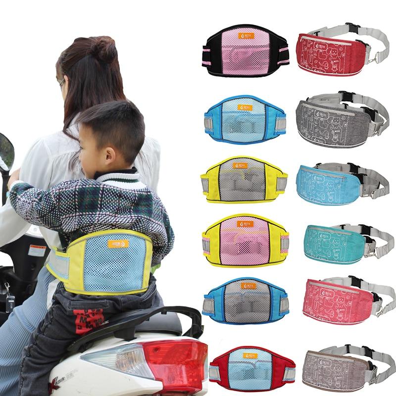 Cinturón de seguridad de motocicleta para niños, cinturón de seguridad para vehículos eléctricos, cinturón de asientos para motocicletas y niños, arnés portabebés