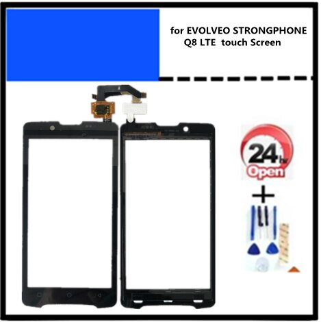 Herramientas de repuesto + adhesivo para digitalizador EVOLVEO STRONGPHONE Q8 pantalla táctil LTE