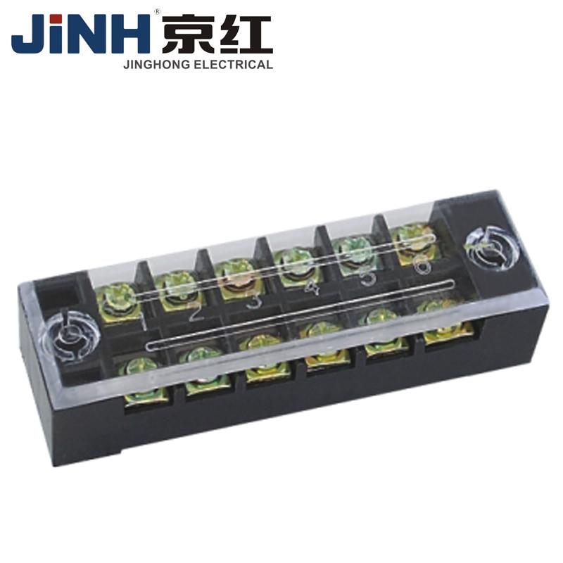TB4506 45A doble fila 6 bloques de barrera de terminales de tornillo de posición