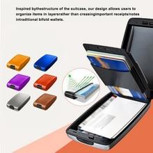 Credit Card Holder Men Women Slim Anti RFID Protect Travel ID Card Holder Short Inside Hook Wallet M
