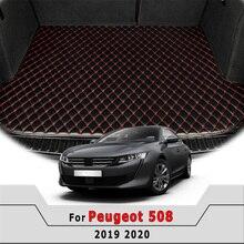 Coffre de voiture tapis pour Peugeot 508 2019 2020 brocanteur Tapis arrière Cargo Liner Décoration Tapis camion auto Accessoires Tapis