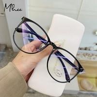 Винтаж прозрачный компьютерные очки Рамка Для женщин мужчин антибликовыми свойствами светильник круглые очки блокировка очки оптические ...