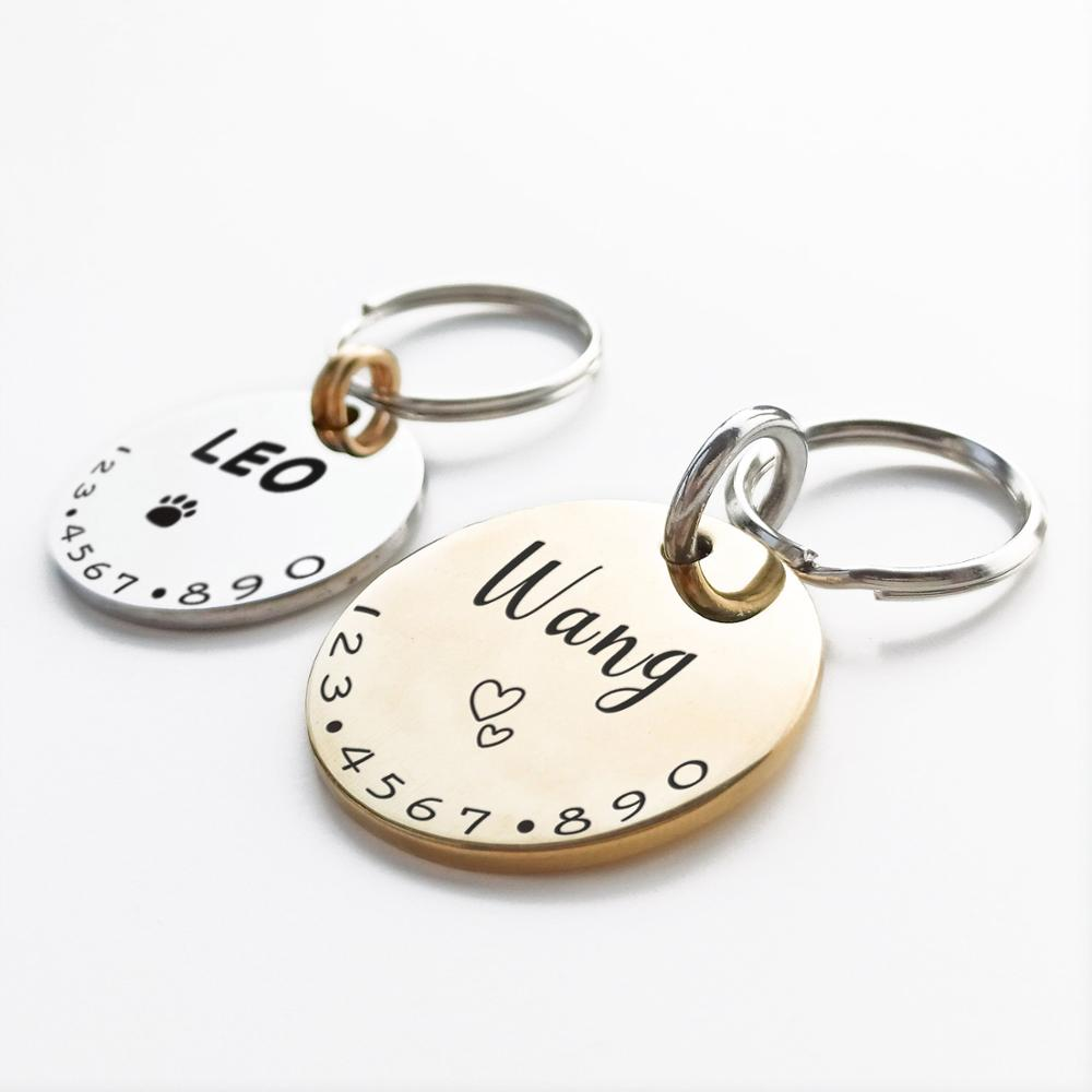Personalized Pet Cat Dog ID Tag Collar Accessories MW001 Custom Engraved Necklace Chain Charm Supplies For Dog Tag Name Products