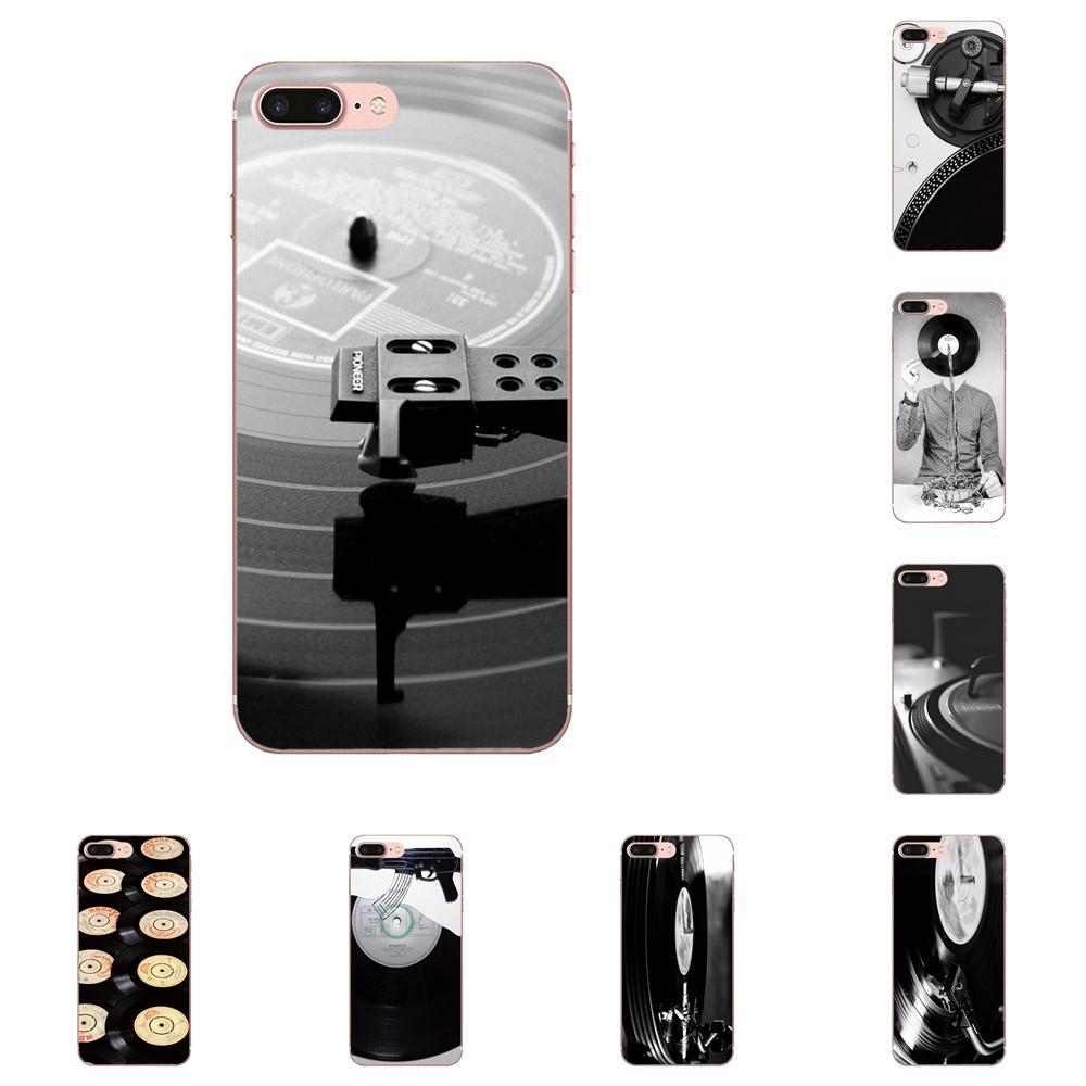 Para A Apple iPhone 11 XS Pro Max XR X 8 7 6 6S Plus 5 5S SE 4 4S TPU Shell Las Ruinas Mayas Preto Disco de Vinil