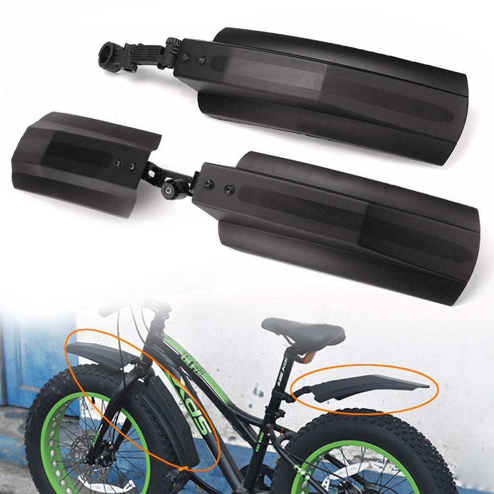 Bicicleta de neve guarda-lamas gordura fender 2 pçs frente traseira lama guarda para fatbike mtb bicicletas ciclismo pára-choques